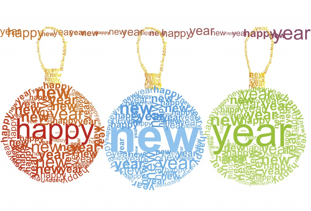 Happy New Year typographic